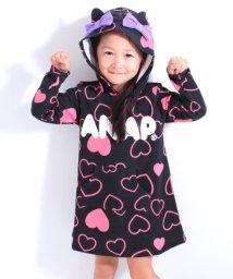 ANAP KIDS/ハート柄ねこ耳ワンピース/500761697