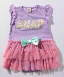 ANAP KIDS/花柄ロゴチュールドッキングロンパース/500761698