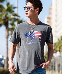 CavariA/CavariA【キャバリア】バッファロー星条旗プリント半袖Tシャツ/500795923