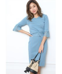 JUSGLITTY/袖刺繍タイトニットワンピース/500797227