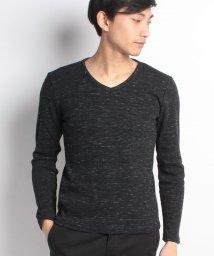 STYLEBLOCK/引き揃えMIXカラー杢ワッフルサーマルVネック長袖Tシャツ/500600789