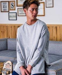 CavariA/CavariA【キャバリア】裏毛ビッグシルエット長袖無地Tシャツ/500799086