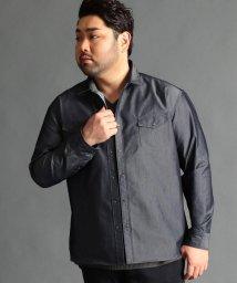 HIDEAWAYS NICOLE L/<大きいサイズ>シャンブレーツイルシャツ/500733973