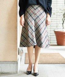GEORGES RECH/【日本製】ジャカードチェックフレアスカート/500801434