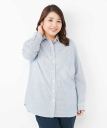 eur3/【大きいサイズ】一枚でも重ね着用でもOK!ベーシックシャツ/500801863
