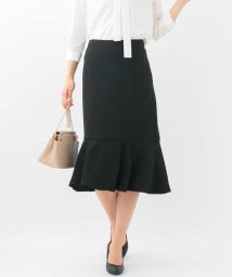 MK MICHEL KLEIN/【洗濯機で洗える】ペプラム切替えスカート/500802711