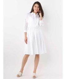 OFUON/リボンベルト付きシャツ&フレアスカートセット/500803282