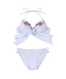 SEA DRESS/刺繍クロスリボンビキニ/水着/500804165