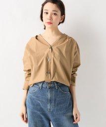 SLOBE IENA/タイプライターVネックシャツ/500806048