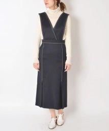 SHIPS WOMEN/PrimaryNavyLabel:ジャンパースカート/500806307