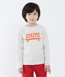 SHIPS KIDS/SHIPS KIDS:切り替え ロゴ ロングスリーブ(100~130cm)/500806333