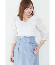 PROPORTION BODY DRESSING/【美人百花 5月号掲載】シアーキャンディスリーブリブニット/500799663