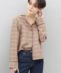 ADAM ET ROPE'/ヴィスコースチェックパジャマシャツ/500806619