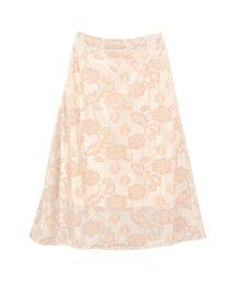 titivate/3DフラワーチュールAラインスカート/500807419