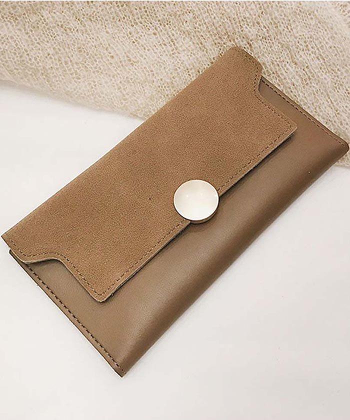 01654a9cc764 miniministore(ミニミニストア)/三つ折り財布 レディース 長財布 かぶせ カード入れ 薄型