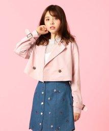 MIIA/スカラップデニム刺繍スカート/500739615