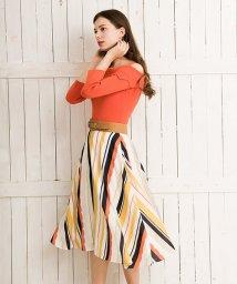 Noela/オパールマルチストライプスカート/500809003