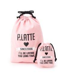 PINK-latte/大小ロゴ巾着セット/500810310