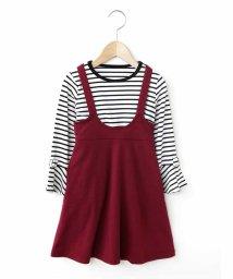 a.v.v(KID'S)/[100-130]袖リボンカットソー×フレアジャンバースカート[WEB限定サイズ]/500813407