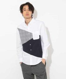 a.v.v (MEN)/グレンチェック切り替えオックスシャツ[WEB限定サイズ]/500813445