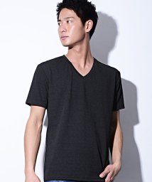 CavariA/CavariA【キャバリア】ダイヤ柄Vネック半袖Tシャツ/500815091