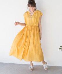 coen/【Market】ソリッドエンブロイダリーマキシワンピース/500815330