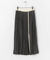 URBAN RESEARCH DOORS/unfil linen silk striped skirt/500818435