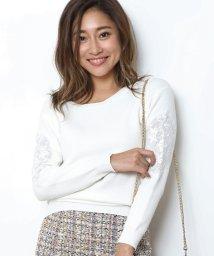 JUSGLITTY/袖刺繍ゆるニット/10267545N