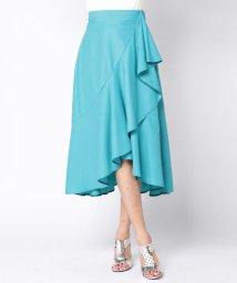 Viaggio Blu/ラッフルデザインカラーフレアスカート/500799532