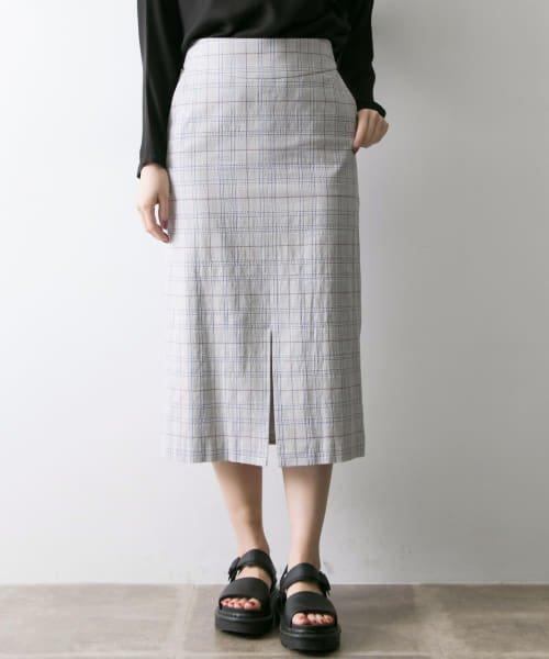 Arollaチェックタイトスカート