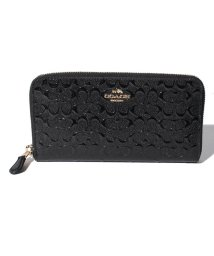 COACH/COACH OUTLET F54805 IMBLK ラウンドファスナー長財布/500788899