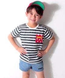 ANAP KIDS/星柄ポケットボーダーTシャツ/500808411