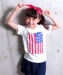 ANAP KIDS/フラッグプリントTシャツ/500808413