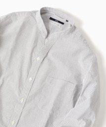 SHIPS MEN/SC: コードストライプ バンドカラー スキッパーシャツ/500821964