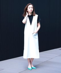 BEAMS OUTLET/Demi-Luxe BEAMS / Vネック Iラインワンピース/500756386