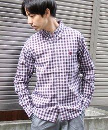 coen/50タイプライターチェックボタンダウンシャツ/500807343