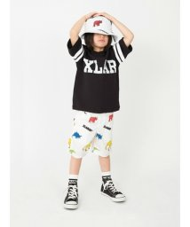 XLARGE KIDS/XLAR 袖ラインFB7分袖Tシャツ/500808514