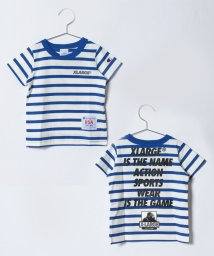 XLARGE KIDS/XLK×CHAMPION ボーダーSSTシャツ/500808520