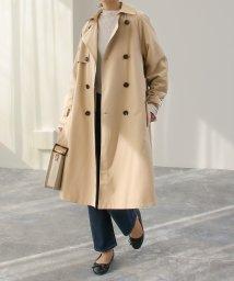SocialGIRL/軽やかピーチスキン素材 ロングトレンチコート/500823927