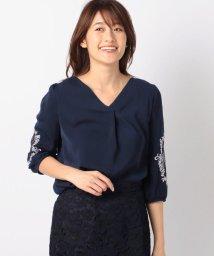 MISCH MASCH/袖刺繍レースVネックブラウス/500689361