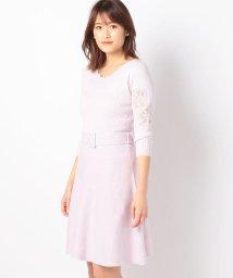 MISCH MASCH/袖刺繍ニットワンピース/500735820