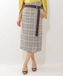MICHEL KLEIN/オリジナルチェックタイトスカート/500816107