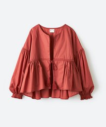haco!/ブラウス感覚で着られるふんわりギャザー羽織り/500821116