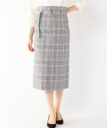 SHIPS WOMEN/Prefer SHIPS: チェックベルトタイトスカート/500824938