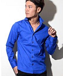 CavariA/CavariA【キャバリア】日本製イタリアンカラーブロード長袖シャツ/500827031