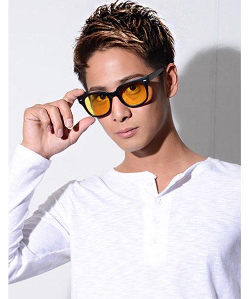 シルバーバレット CavariAボストン型カラーレンズサングラス(ハードケース付き) メンズ ブラック FREE 【SILVER BULLET】