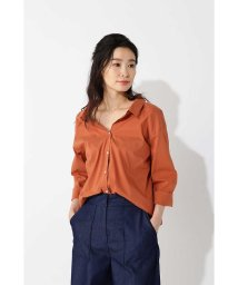NATURAL BEAUTY BASIC/★〈ウォッシャブル〉バックレースUPシャツ/500825129