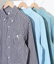 coen/タイプライターギンガムボタンダウンシャツ/500825348