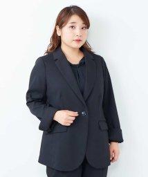 eur3/【大きいサイズ】【セットアップ】お仕事に!きれいを追求したシルエットのジャケット/500828163