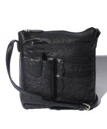 addy selection/【ostrich】オーストリッチ ハーフポイント ポケット付き ショルダーバッグ/500809085